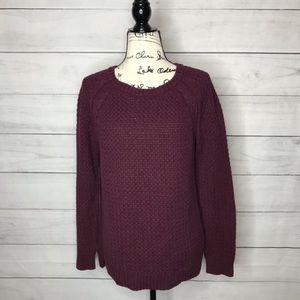 Maison Jules fisherman knit cotton sweater XL